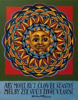 """Obraz """"Mandala - Aby mohl být člověk šťastný"""""""