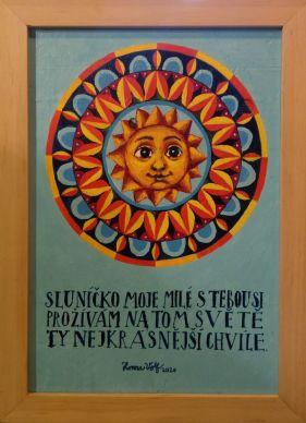 "Obraz ""Mandala - Sluníčko moje milé"" 3"