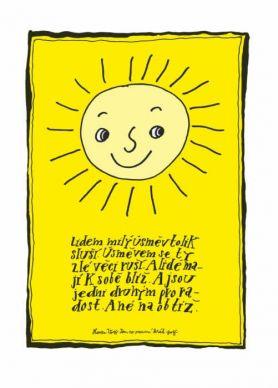 Lidem milý úsměv tolik sluší - plakát
